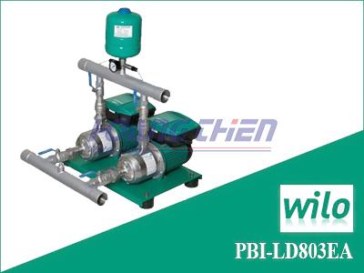Cụm 2 bơm tăng áp tích hợp biến tần WiLo PBI-LD803EA